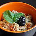 <b>Salade</b> de Quinoa, Concombre, Avocat, Carottes & Feta