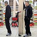 Lascard au supermarché