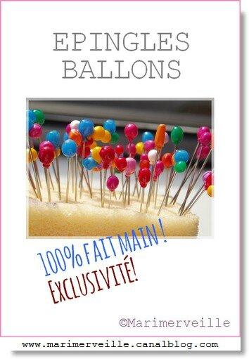 Epingles de collection ballons Marimerveille