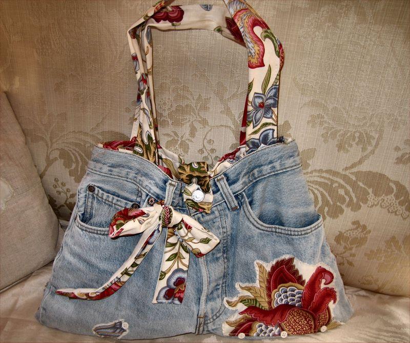Sac en jean decoplaisir - Sac en jean customisation ...