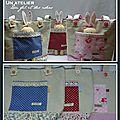sacs et lapins de pâques