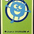 carte d'anniversaire garçon avec monstre bleu