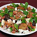 Salade de figues fraîches au chèvre