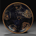 A Cizhou-type russet-splashed black-glazed bowl, Jin dynasty, <b>12th</b>-<b>13th</b> <b>century</b>