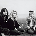 Mick jagger, catherine deneuve and andy warhol in montauk, 1975