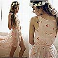 Couronne fleurie & <b>robe</b> palichonne