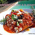 Côtelette de porc à la provençale