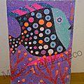 Art au numéro : poisson en sable coloré