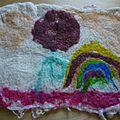 tapis laine feutrée enfant