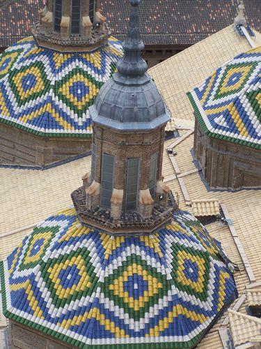 Saragosse-Nuestra Senora del Pilar-coupoles zoomées