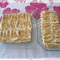 Tarte aux pommes façon pain perdu