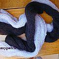 écharpes noire et grise