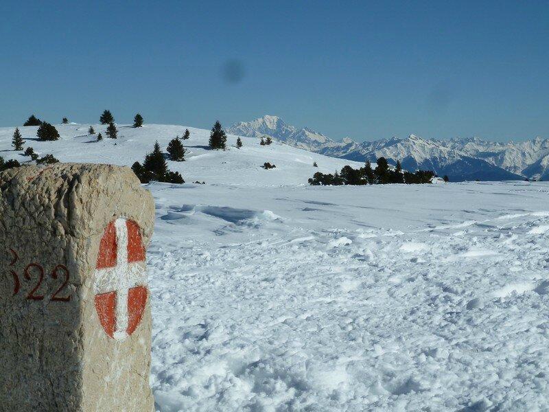La Croix de l'Alpe, un beau jour de février!