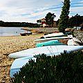 Lac de Vieux Boucau avec Eva 251016