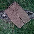 Pantalon velours et toile, 6 mois