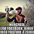 Live aujourd'hui à 16h00 sur facebook