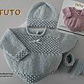 FICHE TRICOT BEBE, explications tricot TUTO, modèle, <b>layette</b>, tricot bb