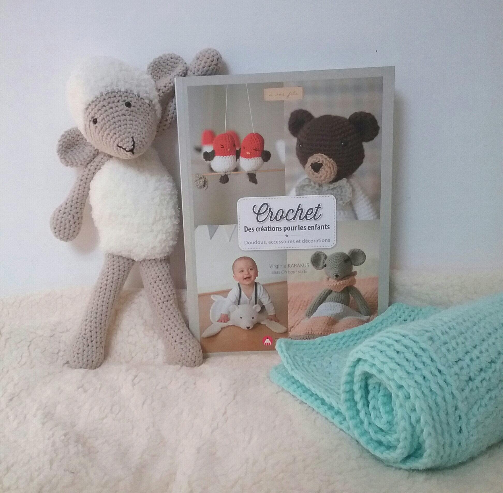 un peu de crochet pour bébé : couverture et mouton Frimousse