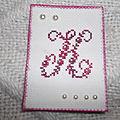 Atc + 2 cartes brodées