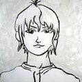 Vincent Autour du portrait Manga adolescent