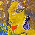 Tableau acrylique portrait