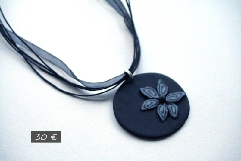 Collier rond fimo
