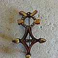 Bi562 : Broche <b>croix</b> du <b>sud</b> 20's