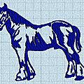 <b>Broderie</b> <b>machine</b> : cheval de trait