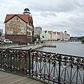 Kaliningrad, Pont de Medovy et rives de la Pregolia (Russie)