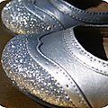 Chaussures de princesse pour un mariage