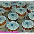 Cupcakes chocolat blanc et son topping au kinder maxi