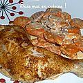 Cuisses de poulet épicées et carottes à la crème