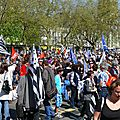 Le rassemblement, place de la Résistance à Quimper