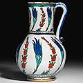 An Iznik pottery <b>jug</b>, Ottoman Turkey, circa 1560
