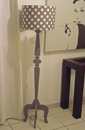 lampadaire bois de palette