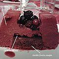 Bûche glacée aux <b>fruits</b> <b>rouges</b>