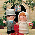 Bride and groom - little gift dolls - jean greenhowe
