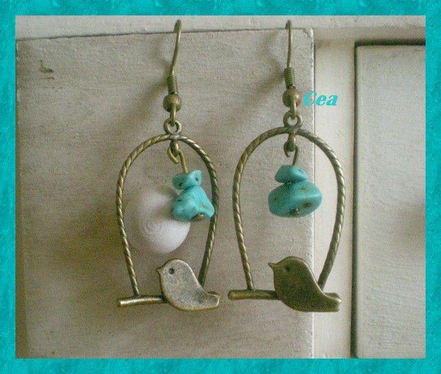Oiseau turquoise