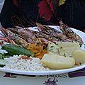 Crète 2012 crrevettes géantes