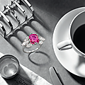 A Ruby and Diamond Ring, <b>Monture</b> Cartier