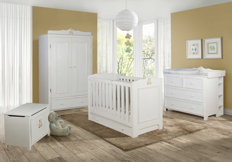 Chambre bébé bois Provence