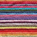 Arc en ciel de couleurs au crochet................