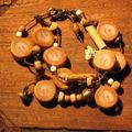 bracelet 3 fils or et trans