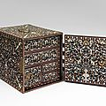 "Indo-Portuguese table cabinet ""Ventó"",Mughal influence, 16th-17th century"