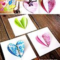 ¨°o.o carte cœurs couture / diy sew 3d hearts card o.o°¨