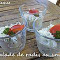 Salade de radis au crabe