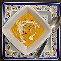 Soupe de carottes au gingembre et <b>citron</b> <b>vert</b>