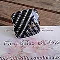 Zebra (Black) bague 8€ VENDU