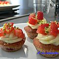Mini <b>cup</b> <b>cake</b> aux fruits rouges