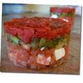 Salade pré-estivale en rouge et vert (spéciale dédicace à Madame Soleil)